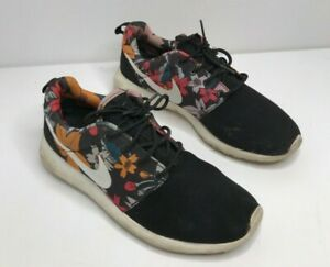 Black Nike Roshe Run Print Aloha Floral Size 6 UK