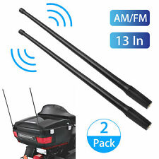 "13"" 2-pack Black Whip AM/FM/XM/CB Power Radio Antennas Mast for HARLEY-DAVIDSON"
