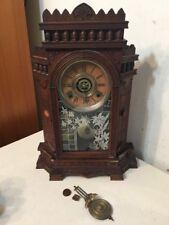 Beautiful Rare Gilbert Altai Parlor Clock Great Eastlake Style