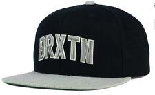 Brixton Hamilton Flatbill Snapback Black Gray Cap Hat $30