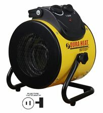 Portable Electric Space Heater Fan Forced Thermostat 5,120 BTU Basement Garage