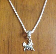 collier 57 cm avec pendentif cheval 17x18 mm