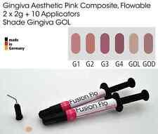 Gingiva Gum Shade Aesthetic Pink Flowable Dental Composite 2 x 2g, VITA GOL