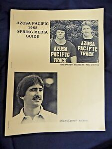 Vintage 1982 Sport Magazine Football Azusa Pacific Track Baseball Coach College