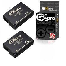 2 x Ex-Pro Battery DMW-BLD10E 1200mA for P@ L@ DMC-G3 DMC-GF2 DMC-GX1