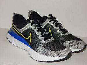 Nike React Infinity Run FK 2 Flyknit Shoes CT2357-100 Size 10 White/Cyber-Black