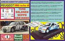 ANEXO DECAL 1/43 PEUGEOT 205 TURBO 16 T.SALONEN R.MONTECARLO 1985 (03)