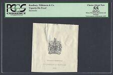 Bermuda Vignette Die Proof Royal Crest Used on all notes 1937-1966