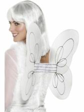 Costume Bianco Silver Angel Ali Di Fata Con brillantini Trim - 50 x 30 cm Adulti