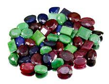 460ct / 50pcs Natural Emerald Sapphire Ruby UK Ring Size GEMSTONE Wholesale Lot