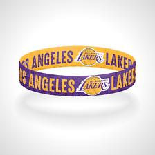 Reversible Los Angeles Lakers Bracelet Wristband LA Lakers Laker Nation