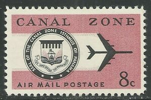 U.S. Possession Canal Zone Air Mail stamp scott c43 - 8 cents issue mlh - xx