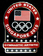 Singapore 2010 rare USA YOG Olympic NOC  GYMNASTIC ARTISTIC team pin