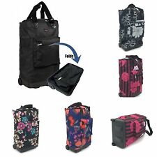 Light Weight Folding 2 / 4 Wheel Shopping Trolley luggage Weekend Cabin Bag Case