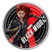 2020 Fiji $1 Marvel Avengers Black Widow 1 oz 999 Silver Proof Coin - 2,500 Made