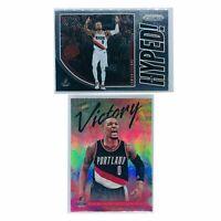 Damian Lillard Portland Trail Blazers Panini NBA 2 Card Insert Set