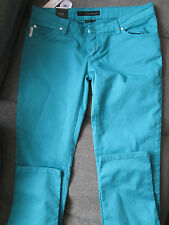 GENUINE WOMENS CALVIN KLEIN LOW RISE SKINNY JEANS TEAL BLUE GREEN W30 L34 BNWT