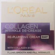 L'OREAL COLLAGEN WRINKLE DE-CREASE RE-PLUMPING DAY CREAM  50ml