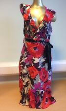SALE Monsoon Dress Women's Dress UK Size 12 Silk Dress Halterneck Dress Ladies