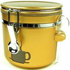Kaffeedose Vorratsbehälter Teedose ANTONIO gold 1,1l Vorratsdose Kaffee Tee