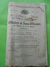 Bulletin regional officers and ncos reserve 5ème-region 1934