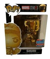 Funko Pop Marvel Studios Shuri  Gold Chrome #393 NYCC 2018 w/protector New