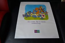 Disney Pooh It's Time for a Little Something Poster 51x40.5cm Published by V&P