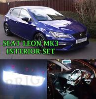 SEAT LEON MK3 TDI CUPRA FR INTERIOR LED ERROR FREE LIGHT- BRIGHT XENON WHITE