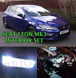 FOR SEAT LEON MK3 TDI CUPRA FR INTERIOR LED ERROR FREE LIGHT BULBS- XENON WHITE