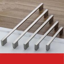 Brushed  Kitchen Nickel Door Cabinet Drawer Handle Pulls 96MM 128 160 192 224MM