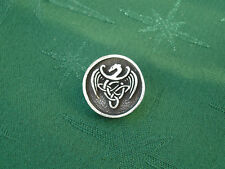 Celtic Dragon Button, 22mm diam, Handcrafted in Fine Lead-Free Pewter
