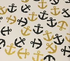 Gold Black Anchor Confetti Nautical Table Pirate Party Summer Birthday Wedding