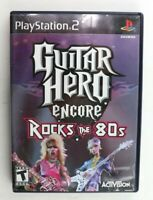 PS2 Guitar Hero Encore: Rocks the 80s (Sony PlayStation 2, 2007) Complete Tested