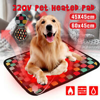 3-Mode Pet Dog Cat Puppy Electric Heated Pad Bed Mat Whelping Box Waterproof #