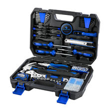 120 Piece Home Repair Tool DIY Set with Storage Box, Hammer,Wrench,Plier