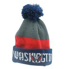 Washington Capitals Nhl Reebok Youth Boys (8-20) Cuffed Pom Knit Winter Beanie