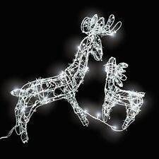 LED Iluminación navideña de exterior  renos decoración jardín casa luz navidad