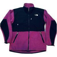 Women's North Face Fleece Jacket Size Medium Denali Polar Purple Coat Vintage US