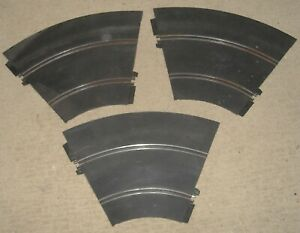 3 pieces 1967 Strombecker 1/32 Slot Car Track part# 90458 Banked MONZA CURVE
