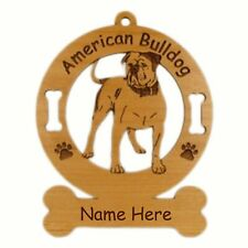 American Bulldog #2 Breed Ornament Personalized With Your Dog's Name 1183