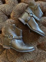 New Brown Ankle Boots Enzo Angiolini Rokira  Leather Cute! 7.5M Saks 5th Ave W2