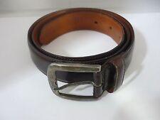Rare Genuine Giorgio Armani Sterling Silver & Leather Belt Size 80/32