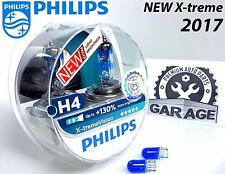 Philips H4 Xtreme Vision +130% Headlight Halogen Bulbs 12V 55W P43t-38 +Blue W5W