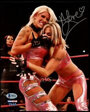 Angelina Love signed autograph auto 8x10 Photo Ring of Honor Wrestler BAS Cert