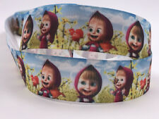 1-5-10 Yard 1'' Martha and Bears Printed Grosgrain Ribbon Hair Bow Sewing Ribbon