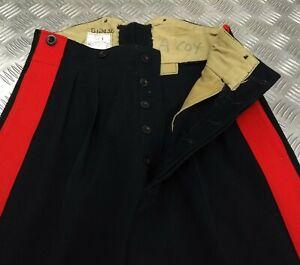 "Genuine Vintage 1957 British Military No1 Blues Trouser 1¾"" Red Stripe EBYT313"