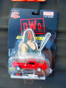 "RACING CHAMPIONS RED 1968 FORD MUSTANG FASTBACK ""STING"" NEW WORLD ORDER TARGET"