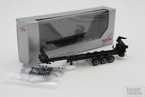 Herpa Hammar Container side loader semitrailer 3axle black /HS2