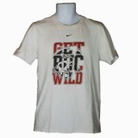 Mens Nike Regular Fit Get Buc Wild White Short Sleeve T-Shirt Size S Small