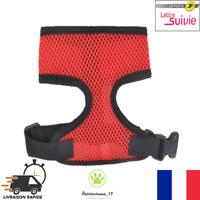 Harnais Souple Respirant Rouge et Noir Chien Chiot et Chat  XS S M L XL Neuf FR